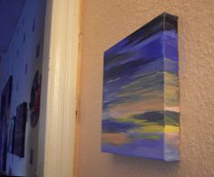 Sunset - a small acrylic painting on canvas, via Flickr.