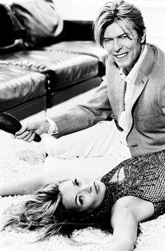 Kate Moss & David Bowie by Ellen Von Unwerth.