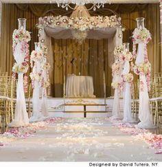 Beautiful... Pink and White Wedding Ceremony