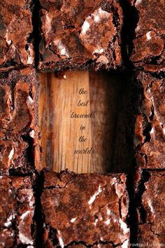 The Best Brownies in the World from cravingsofalunatic.com- these are our absolute favourite brownies in the world. We make them time and time again! (@CravingsLunatic)