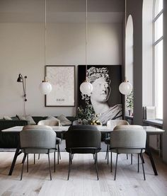 Get inspired by these dining room decor ideas! From dining room furniture ideas, dining room lighting inspirations and the best dining room decor inspirations, you'll find everything here! Dining Room Lamps, Dining Room Lighting, Dining Room Design, Table Lamps, Kitchen Lighting, Decor Room, Living Room Decor, Home Decor, Living Rooms