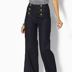 High wasted sailor jeans. Love.
