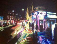 Dark Wakefield Series, Westgate Wakefield acrylic on canvas, Wakefield Artist Tim Burton. Wakefield, Tim Burton, Fair Grounds, Paintings, Canvas, Dark, Artist, Fun, Tela