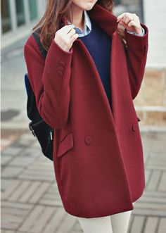 A touch of bordeaux red in winter