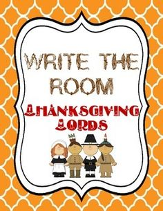 Included:16 Thanksgiving cards with pictures and words--Indians, November, Pilgrims, feast, friends, turkey, pie, pumpkin, Mayflower, Autumn, cornucopia, family, basket, football, rake leaves, corn1 Write the Room recording sheet Check out my store for LOTS of write the rooms!Don't forget to rate me and get your TPT credits!
