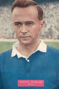 Johnny Hubbard of Rangers in 1952.