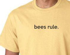 T-Shirt  -  Honey Bee Tee Shirt  - FREE SHIPPING - Bees Rule Tee Shirt - -Beekeeping T-Shirt  - Beekeeper Shirt -  Honeybee Tee