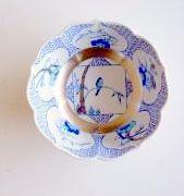 三方ガラミ紋 ブルー