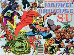 official handbook, Marvel Universe, Thor, Thing, Thundra, Tigra,
