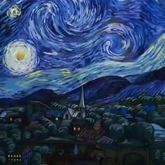 Witch Painting, Starry Night Wallpaper, Art Painting, Amazing Art Painting, Art, Futuristic Art, Starry Night Van Gogh, Painting Wallpaper, Art Wallpaper Iphone