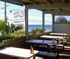 Malibu Seafood | Malibu, CA - our FAVE FAVE FAVE seafood place EVER - great view of the Pacific and the FRESHEST seafood anywhere.  It's takeout only - outdoor dining only.