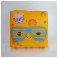 Decorative Pillow Cheese Pillow Shutter Glasses Geek by mymimi, $18.00