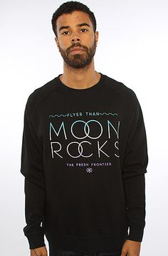 Moon Rocks Black Crew Neck by Sky Culture