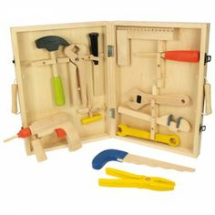 Buy Carpenter's Tool Box from our Toy Tools, Construction range at Bigjigs Toys. Award winning toys for every step of the way. Wooden Tool Boxes, Wooden Case, Wooden Toys, Educational Toys For Kids, Kids Toys, Carpenter Tools, Build Something, Toy Craft, Toddler Gifts