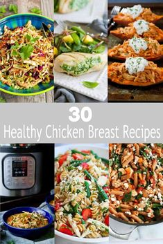 No more boring chicken breast recipes! This collection of healthy chicken breast recipes will make you fall in love with this lean protein all over again.