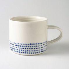 Wheel thrown southern ice porcelain espresso cup #BLUE #porcelain #australianceramics #clay #cup #espresso