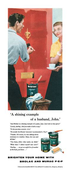 1958 Brolac and Murac Paint ad