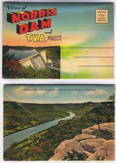 Vintage TVA flyer. Norris, TN. Norris Dam was the First TVA Dam on the Clinch River. Fortunate to call this area home.