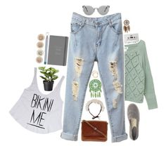 """""""And the arms of the ocean are carrying me."""" by auroralaufeyson ❤ liked on Polyvore featuring Nine West, CASSETTE, Botanics, Monki, Iosselliani, FOSSIL and Dorothy Perkins"""