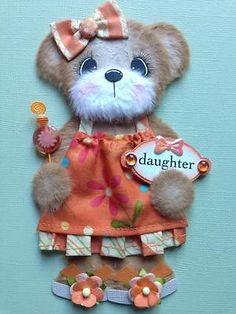 Daughter Baby Boutique Girl Tear Bear Scrapbook Paper Piecing ELITE4U 3PAPERWISH | eBay