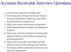 This Accounting Interview Questions and Answers PDF contains 30 ...