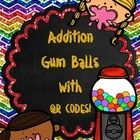 Addition Gum Balls with QR CODES for numbers 1-20.  This set includes 230 Cards!  Have students solve the addition problem and then check their ans...