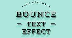 Bounce Psd Text Effect