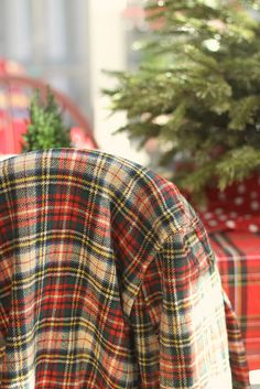 tartan at Christmas... ~ #tartan #Christmas #blanket #plaid