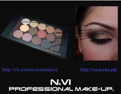 N.VI professional makeup  www.paletka.msk.ru  some tips on makeup. lighter shade of eyebrow is visually lift the eyebrows. Good blend pencil to make the lines more smooth and soft. Drives a shadow in the eyelid skin, and not go round.