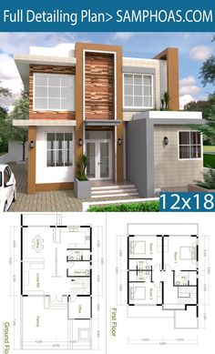 Pin de YOU en Small homes en 2020 Casas de dos pisos Croquis de casas pequeñas Casas modernas arquitectura