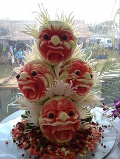 Watermelon carving talented!!