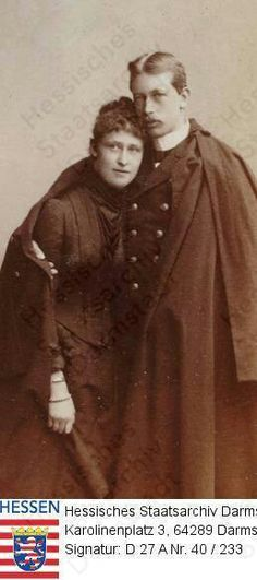 Rare casual royal photograph! Prince Henry of Prussia and his fiance Princess Irene of Hesse