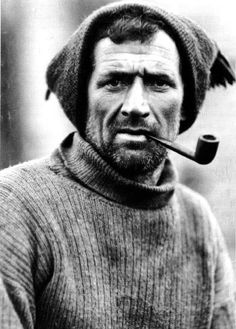 Second Officer, Tom Crean, on board Shackleton's 'Endurance': Frank Hurley c1912-1915