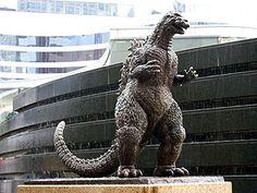 Godzilla Statue in Ginza