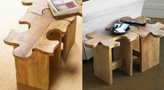 Jigsaw Puzzle Stool—perfect for sitting and doing a puzzle!