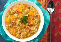 Hearty Chicken Stew with Butternut Squash + Quinoa