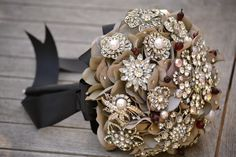 Gorgeous bouquet ... Now I know what to do with all that costume jewelry!