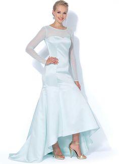 McCall's 7320 Misses'/Miss Petite Mermaid-Hem and High-Low Dresses Average (About Sewing Ratings) sewing pattern Chiffon Shawl, Silk Chiffon, Chiffon Dress, Petite Dresses, Size 14 Dresses, Dresses For Work, Formal Dresses, Wedding Dress Patterns, Wedding Dresses