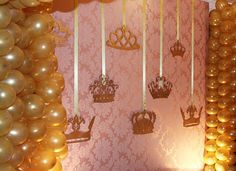 Princesa Gold Birthday, Princess Birthday, Princess Party, 1st Birthday Parties, Crown Party, Quinceanera Themes, Party Queen, Baby Shower Princess, Gold Party