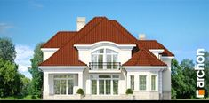 Projekt domu Rezydencja w Myślenicach 2 - ARCHON+ Classic House Design, Duplex House Design, House Front Design, Modern House Design, 3d House Plans, Dream House Plans, Modern House Plans, Bungalow Style House, Beautiful House Plans