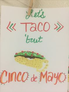 Cinco de Mayo Taco Infant Footprint Art