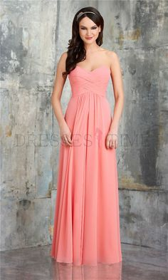 Buy Timeless Princess Sweetheart Empire Waist Ruched Floor-Length Chiffon Bridesmaid dress WPBD-9547 Default Category under $109.99 only in DressesTime.