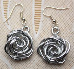 wire roos oorbellen wire rose earrings jewelery sieraden
