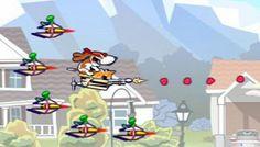 Spunky VS Aliens - Los alienígenas están invadiendo su vecindario y es a Spunky el perro para llevar la lucha a los alienígenas y ganar.