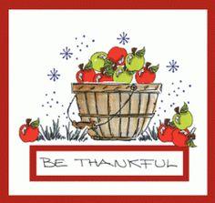 Apple Harvest Basket Card