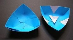 how to make a flat origami dish - YouTube
