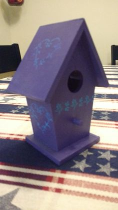 Etsy の Hand painted 5.5 x 4.25 birdhouses by HaleysTreasuresGifts