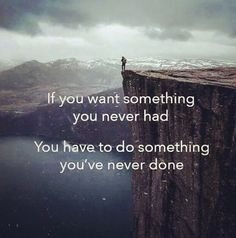 Nothing great comes or grows from comfort zones. Everything you want is on the other side of fear.