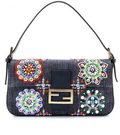 Love this: Baguette Embellished Denim Shoulder Bag FENDI dressmesweetiedarling