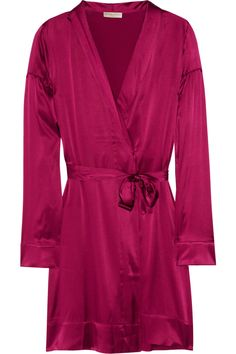 Stretch-silk satin robe by Burberry Brit